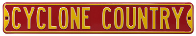 Cyclone Country Iowa State Steel Sign Wall Sign