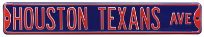 Houston Texans Ave Steel Sign Wall Sign