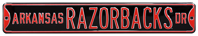 Arkansas Razorbacks Ave Black Steel Sign Wall Sign