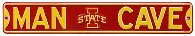 Man Cave Iowa State Steel Sign Wall Sign