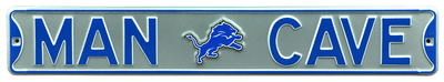 Man Cave Detroit Lions Steel Sign Wall Sign