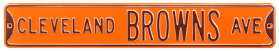 Cleveland Browns Ave Steel Sign Wall Sign