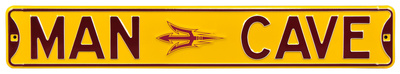 Man Cave Arizona State Steel Sign Wall Sign
