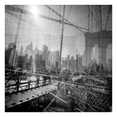 Brooklyn Bridge Triple Photographic Print by Evan Morris Cohen