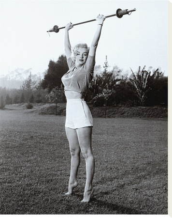 Marilyn Workin' It Stretched Canvas Print
