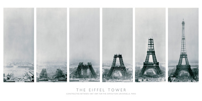 Construction of the Eiffel Tower Posters by  The Vintage Collection