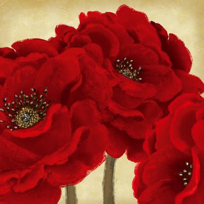 Red Peony II Pósters por Linda Wood
