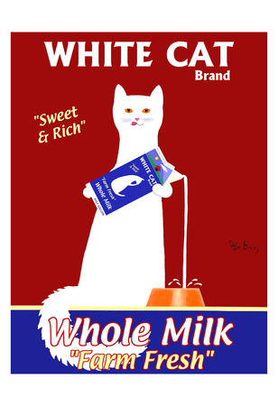 White Cat Milk Limited Edition by Ken Bailey