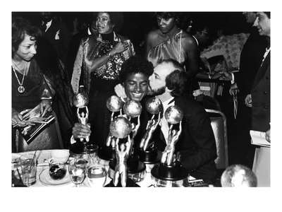 Michael Jackson and Sidney Lumet - 1980 Photographic Print by Guy Crowder