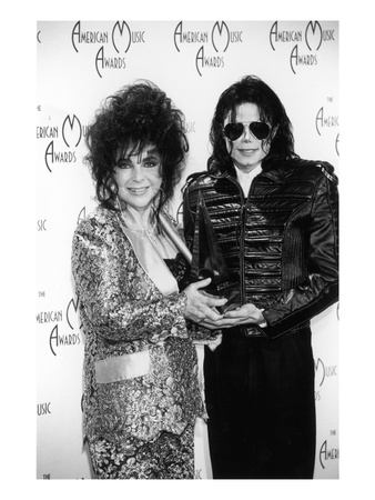 Michael Jackson and Elizabeth Taylor - 1993 Photographic Print by Kenneth Coleman