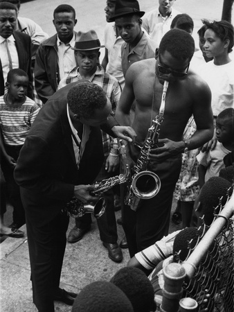 Sidney Poitier and Sonny Stitt Photographic Print by Lacey Crawford