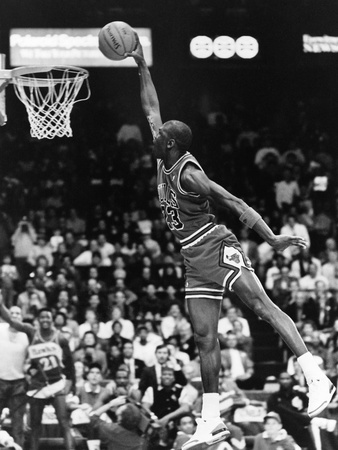 Michael Jordan - 1989 Photographic Print by Vandell Cobb