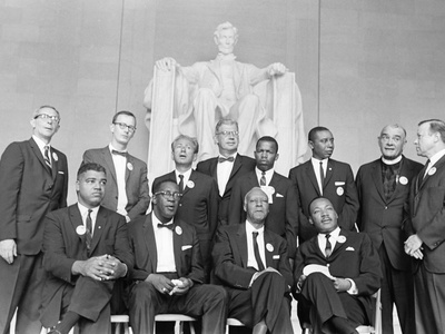 Whitney Young, Dr. Martin Luther King Jr., and A Philip Randolph - 1957 Photographic Print by Moneta Sleet