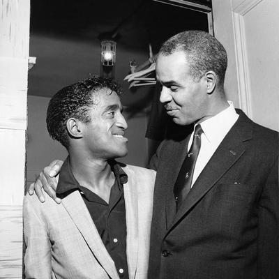 Sammy Davis Jr.,  Roy Wilkins,  May - 1958 Photographic Print by G. Marshall Wilson