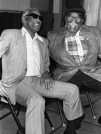Ray Charles, B.B. King - 1990 Photographic Print by Fred Watkins