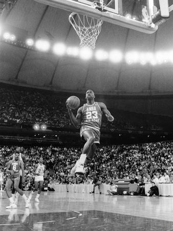 Michael Jordan - 1987 Photographic Print by Vandell Cobb