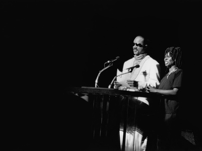 Stevie Wonder - 1987 Photographic Print by Guy Crowder