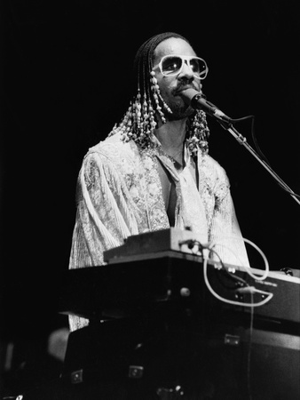 Stevie Wonder Photographic Print by Guy Crowder