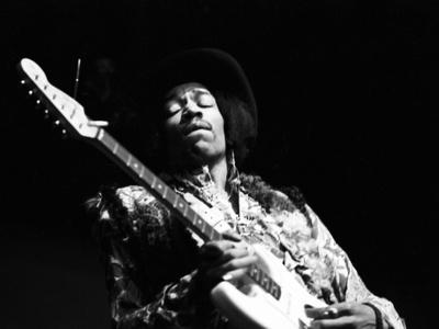 Jimi Hendrix -1968 Photographic Print by G. Marshall Wilson