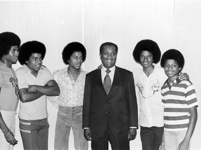 The Jackson Five and John H. Johnson Photographic Print by Norman Hunter