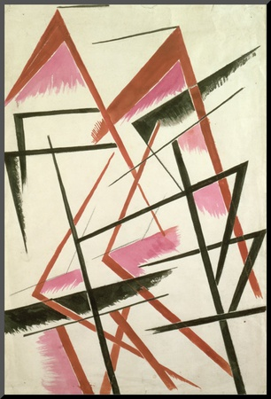 Linear Construction, c.1921 Mounted Print by Liubov Sergeevna Popova