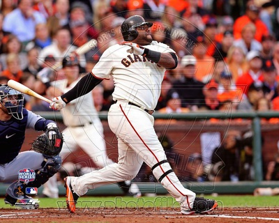 Pablo Sandoval Solo Home Run 1st Inning Game 1 of the 2012 MLB World Series Action Photo