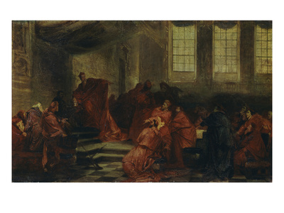 The Conclave, about 1865 Giclee Print by Hans Makart