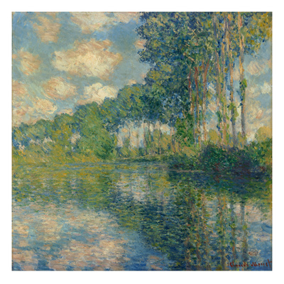 Poplars on the Epte Giclee Print by Claude Monet