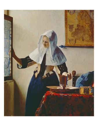 Young Woman with Jug of Water at the Window, about 1663 Lámina giclée por Jan Vermeer