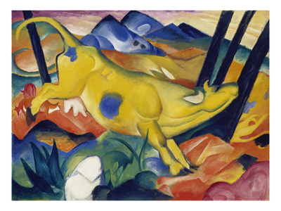 Yellow Cow, 1911 Giclee Print by Franz Marc