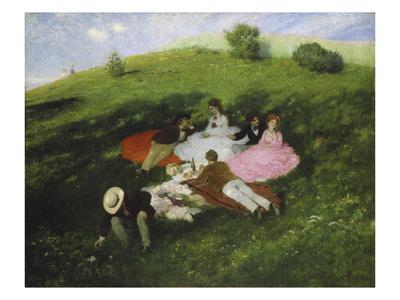 The Picnic, 1873 Giclée-Druck von Paul von Szinyei-Merse