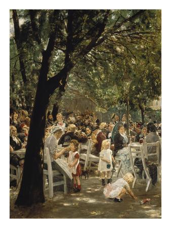 A Munich Beer Garden, 1883/84 Giclee Print by Max Liebermann
