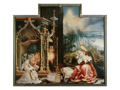Isenheimer Altar. Inner Center Panel: Angel Concert and Nativitiy Giclee Print by Matthias Grünewald