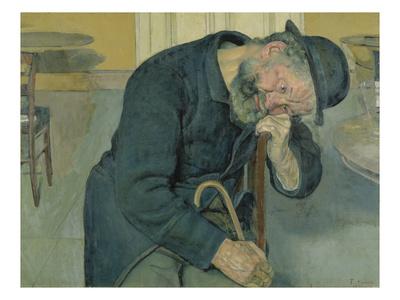 Enttaeuschte Seele, 1891. (Alter Mann) Gicléetryck av Ferdinand Hodler