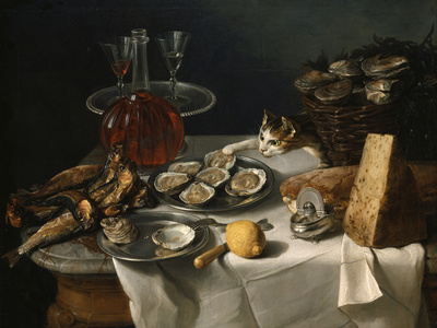 Still Life with Cat Giclee Print by Alexandre-Francois Desportes