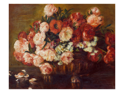 Still-Life with Peonies, 1872 Giclee Print by Pierre-Auguste Renoir
