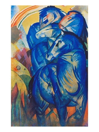 Tower of Blue Horses, 1913 Giclee Print by Franz Marc