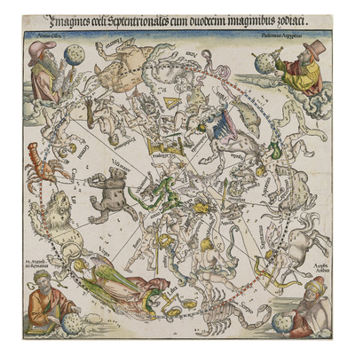 Map of the Northern Sky Giclee Print by Albrecht Dürer