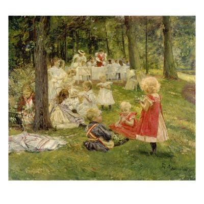 Kindergeburtstag Giclee Print by Adolf Maennchen
