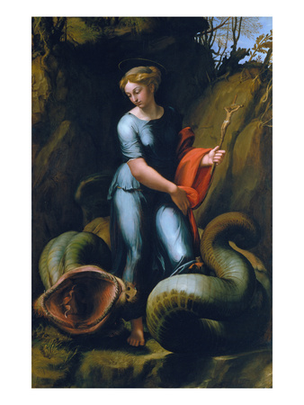 St. Margaret, about 1518 Giclee Print by  Raphael