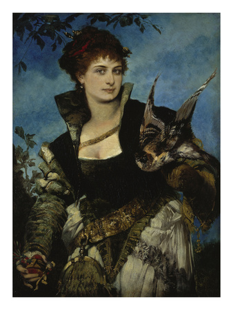 The Falconer, about 1880 Giclee Print by Hans Makart