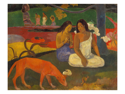 Arearea (The Red Dog), 1892 Giclee Print by Paul Gauguin