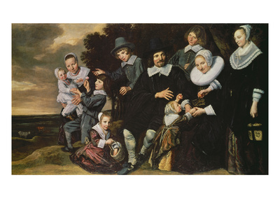 Portrait of a 12-Member Family Giclee Print by Frans Hals