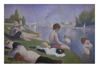 Bathers at Asnieres, 1884 Giclee Print by Georges Seurat