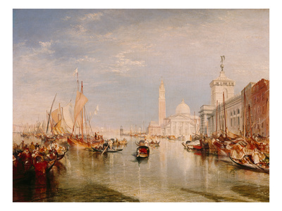 Venice, Dogana and S. Giorgio Maggiore Giclee Print by J. M. W. Turner