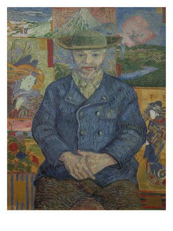Portrait of Pere Tanguy, 1887 Giclee Print by Vincent van Gogh