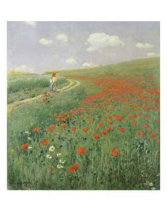 Summer Landscape with Poppy Field, 1902 Giclée-Druck von Paul von Szinyei-Merse