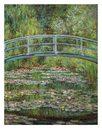 Japanische Bruecke, 1899 Lámina giclée por Claude Monet