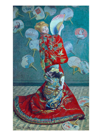 Madame Monet in a Kimono (La Japonaise), 1876 Giclee Print by Claude Monet