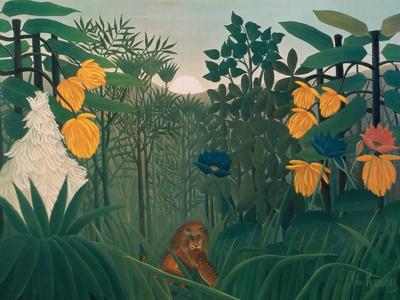 The Repast of the Lion, about 1907 Lámina giclée por Henri Rousseau